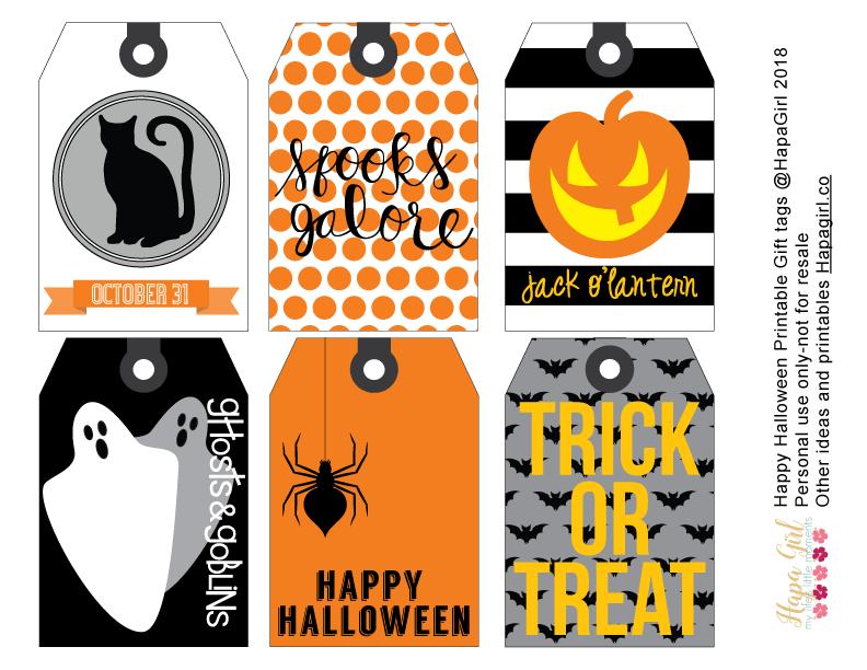 image regarding Happy Halloween Printable named Entertaining Halloween Printable Reward Tags - Hapagirl