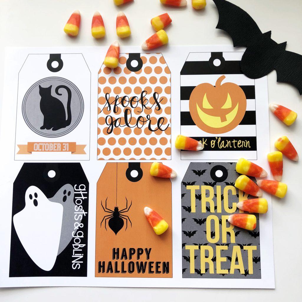 image regarding Printable Halloween Gift Tags identify Exciting Halloween Printable Present Tags - Hapagirl